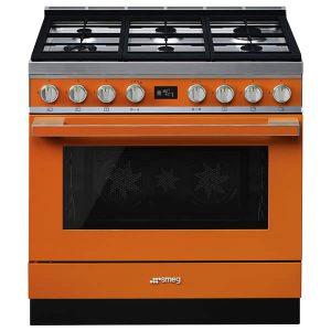 Cucina Smeg CPF9GMOR 90cm Arancione Forno Termoventilato