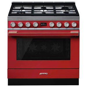 Cucina Smeg CPF9GMR 90cm Rosso Forno Termoventilato