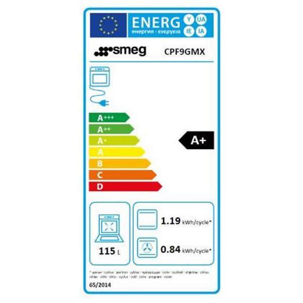 Cucina Smeg CPF9GMX 90cm Inox Forno Termoventilato Etichetta Energetica