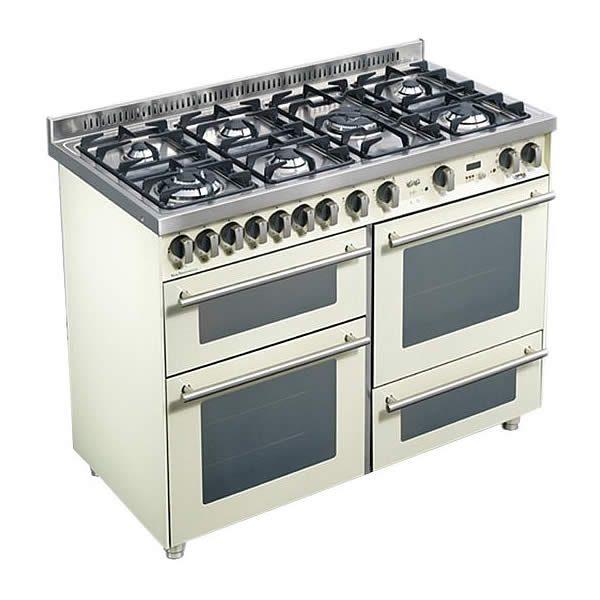 Cucina Triplo Forno Lofra PBI126SMFE+MF-2ci Avorio Piano Cottura
