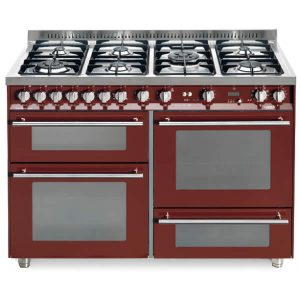 Cucina Triplo Forno Lofra PR126SMFE+MF-2ci Rosso Burgundy