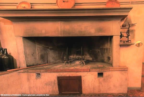 Cucinare con il Girarrosto Caminetto Villa La Ferdinanda - Artimino