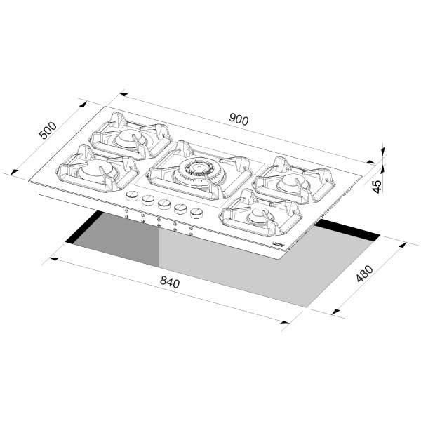 Scheda Tecnica Piano Cottura 90 cm Lofra HLS9C0