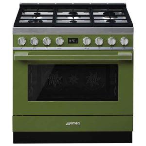 Cucina Smeg CPF9GPOG 90cm Verde Oliva Forno Elettrico Pirolitico