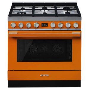 Cucina Smeg CPF9GPOR 90cm Arancione Forno Elettrico Pirolitico