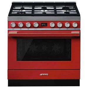 Cucina Smeg CPF9GPR 90cm Rosso Forno Elettrico Pirolitico