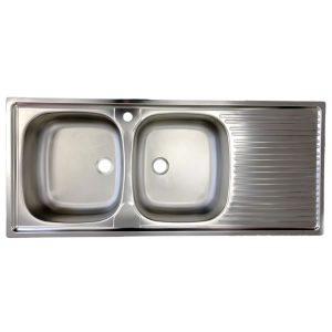 Lavello Foster 116x50 2 Vasche Inox Pil 2