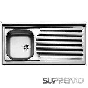Offerta Lavello 100x50 1 Vasca Apell Pisa PI1001RPC Inox 18-10 Supremo