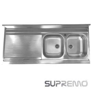 Offerta Lavello Appoggio 135x60 2 Vasche Apell MI1352SP Inox Supremo