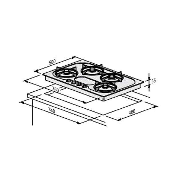 Offerta Piano Cottura Foster PC7024-192 Magic Schema Dimensioni
