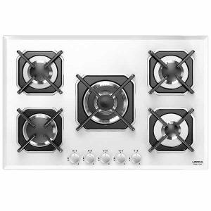 Piano Cottura Vetro Bianco Lofra HGB7E0 5 Fuochi Sirio 75