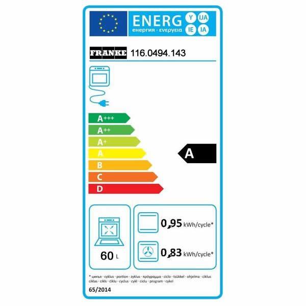 Forno Franke GN-82-M-NT-XS Elettrico Inox Classe A Etichetta Energetica
