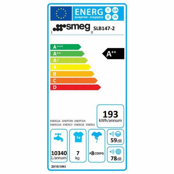 Lavatrice Carica Frontale Smeg SLB147-2 7kg Etichetta Energetica
