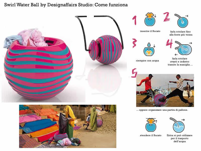 Lavatrici del Futuro Swirl Water Ball di Designaffairs