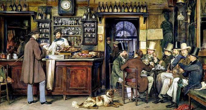Gustare il Caffè all'Italiana Antico Caffè Greco L. J. Passini