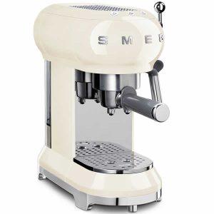 Smeg ECF01CREU Macchina Caffè Espresso Anni 50 Panna
