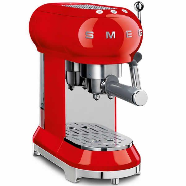 Smeg ECF01RDEU Macchina Caffè Espresso Anni 50 Rosso