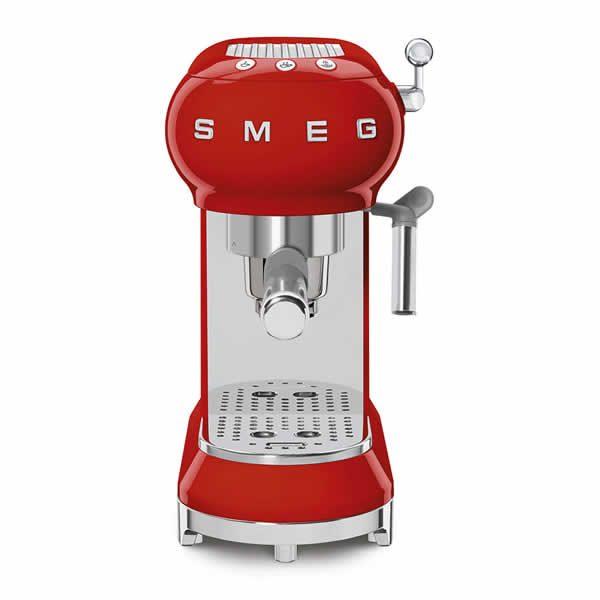 Smeg ECF01RDEU Macchina Caffè Espresso Anni 50 Rosso Comandi