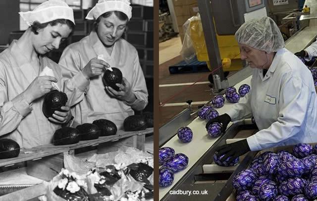 Pasqua Uova di Cioccolata Cadbury Produzione Uova di Cioccolata