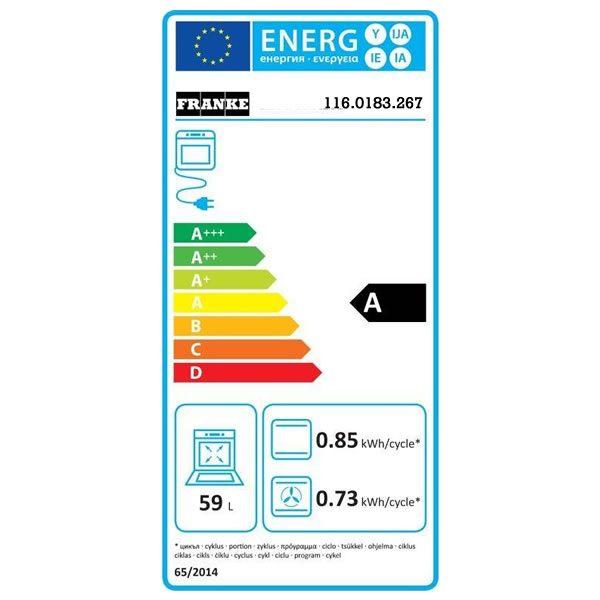 Forno Franke CM 65 M CO Elettrico Country Rame Classe A 116.0183.267 Etichetta Energetica