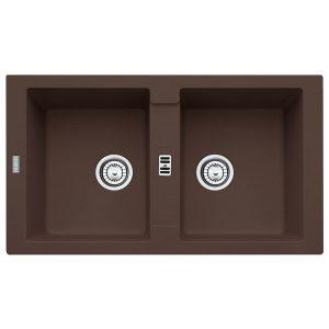 Lavello Franke Maris MRG 620 Dark Brown 86x50cm Fragranite