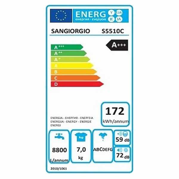 Lavatrice Sangiorgio Meccanica 7kg S5510C A+++ 1000 Giri Etichetta Energetica