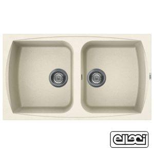 Lavello Elleci LGL45062 86x50cm Living 450 Granitek Bianco Antico