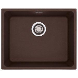 Lavello Franke Dark Brown KBG 110-50 Kubus 50x40cm Sottotop 125.0501.444