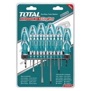 Set Cacciaviti 18 Pz Total Utensili THT250618