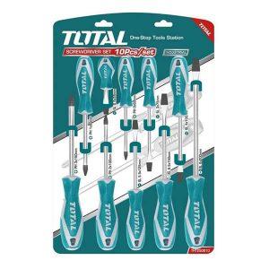 Set Cacciaviti Total Utensili 10 Pz THT250610