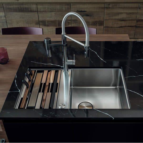 Franke Lavello Box Center BWX 120-41-27 Con Accessori Sottotop In Cucina