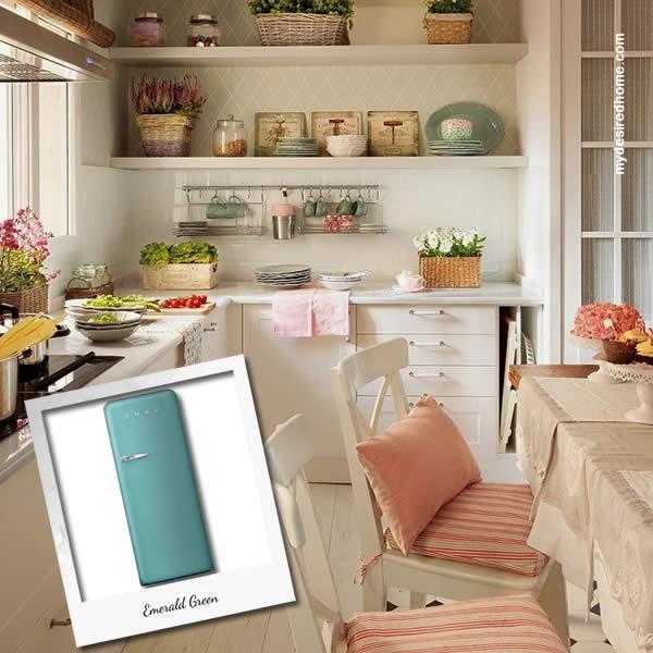 Frigoriferi Fab 28 Nuovi Colori Smeg - Emerald Green Cucina Provenzale