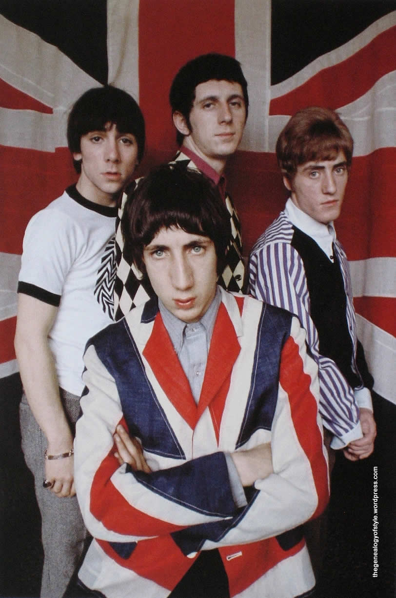 Frigorifero e Bandiera Inglese Giacca Union Flag Kit Lambert Pete Townshend Who