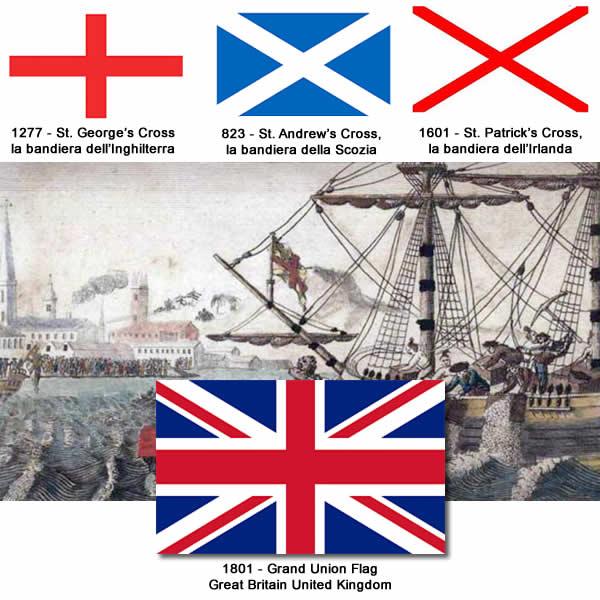 Frigorifero e Bandiera Inglese Union Jack Bompresso