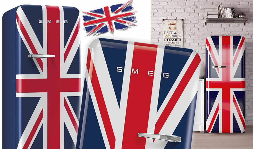 Frigorifero e Bandiera Inglese Union Jack Cover