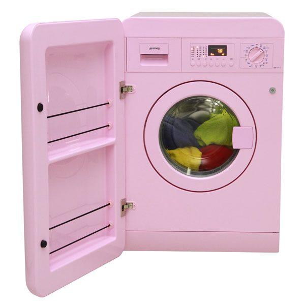 Lavatrice 7Kg Smeg Rosa LBB14PK-2 A++ Anni 50