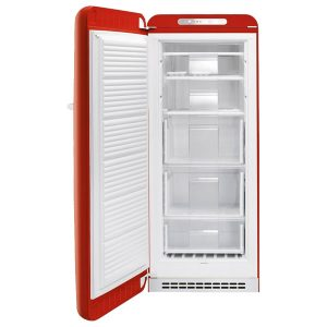 Smeg Congelatore CVB20LR1 Verticale Rosso Anni 50