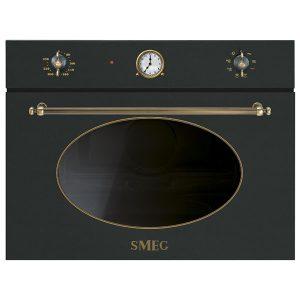 Forno Microonde Smeg SF4800MAO Antracite Estetica Coloniale