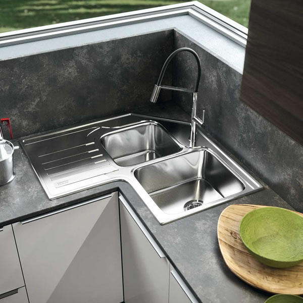 Lavello ad Angolo In Cucina Lavello Franke