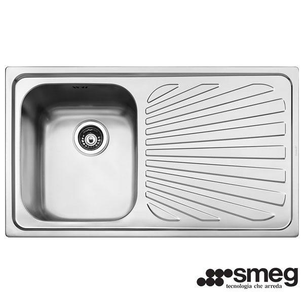 Lavello Smeg SG861D 1 Vasca Acciaio Inox 86X50cm