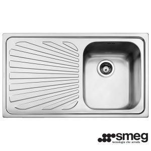 Lavello Smeg SG861S 1 Vasca Acciaio Inox 86X50cm