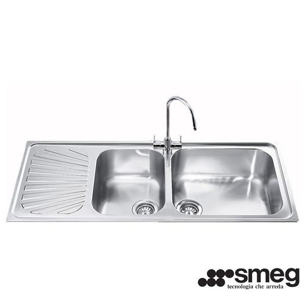 Lavello Smeg SG116S Inox Incasso 116cm 2 Vasche