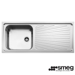 Lavello Smeg SGE116.1D Inox 116cmx50 Incasso 1 Vasca