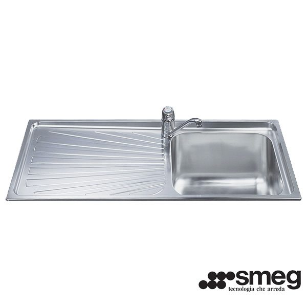 Lavello Smeg SGE116.1S Inox 116cmx50 Incasso 1 Vasca
