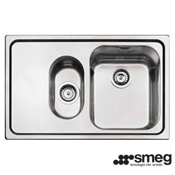 Lavello Smeg SP7915S-2 Acciaio Inox 79cm 1 Vasca e 1/2