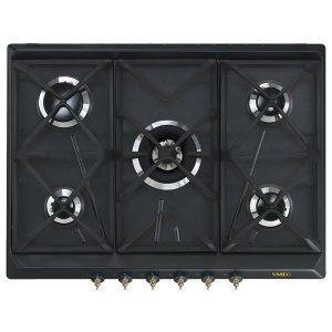 Piano Cottura Antracite Smeg 70cm Gas SRV876AOGH