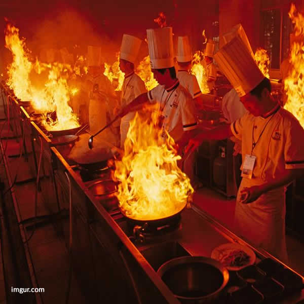 Piano Cottura con Bruciatore Wok Wok Hei