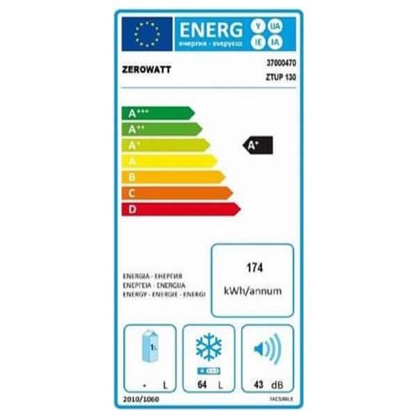 Congelatore Verticale Zerowatt ZTUP 130 64Lt A+ Etichetta Energetica