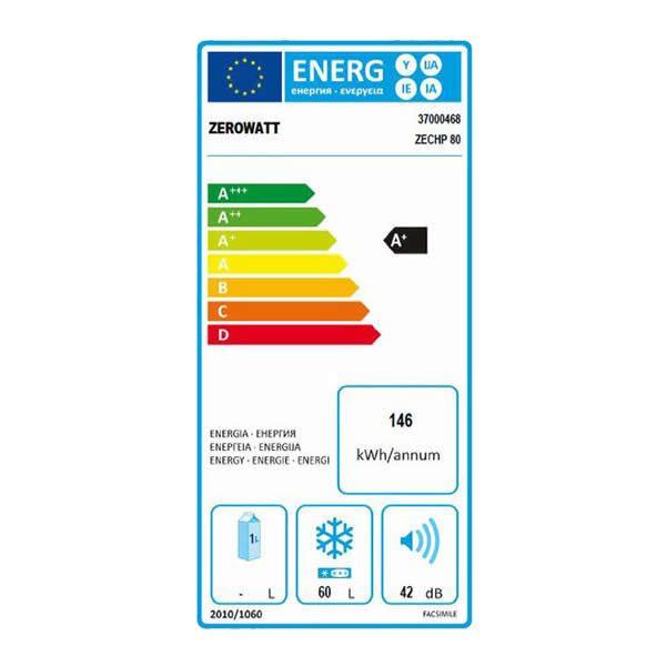 Congelatore Zerowatt Pozzetto ZECHP 80 Classe A+ Capacità 79Lt Etichetta Energetica