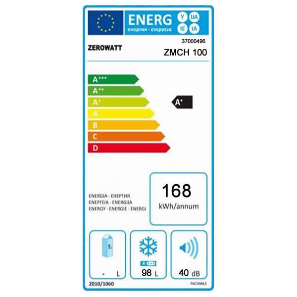 Congelatore Zerowatt Pozzetto ZMCH 100 Classe A+ Capacità 100Lt Etichetta Energetica